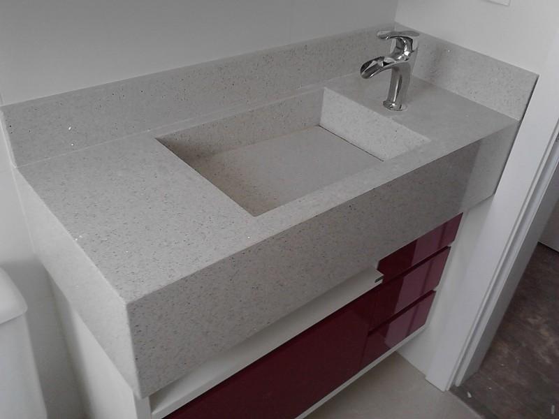 Tampo banho casal com cuba embutida silestone blanco stellar for Colores de granito para encimeras